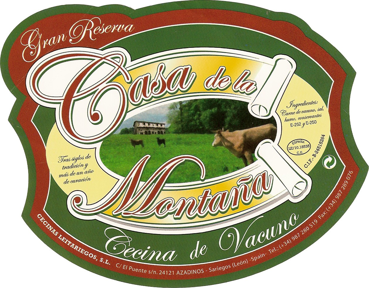 Cecinas Leitariegos-Embutidos Casa de la Montaña